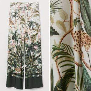 H&M Jungle Print Wide Leg Palazzo Pants